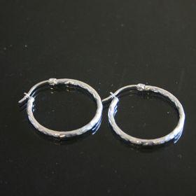 901285 Creool zilver Fay Ø 2,5cm