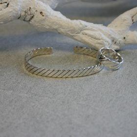901797 armband ring set zilver